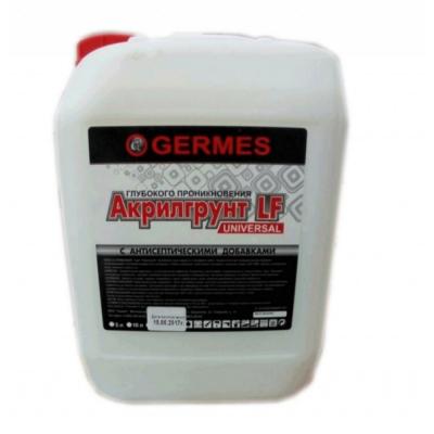 Грунтовка Акрилгрунт Germes глубокого проникновения 10л купить по цене 140 руб.