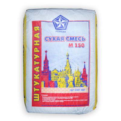 Сухая смесь штукатурная М150 РУСЕАН 40кг купить по цене 235 руб.