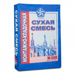 Сухая монтажно-кладочная смесь М200 Русеан 40кг