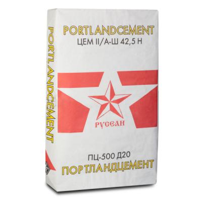 Портландцемент М500 Д20 Русеан 40кг купить по цене 325 руб.