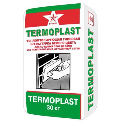 Штукатурка гипсовая РУСЕАН ТЕРМОПЛАСТ (TERMOPLAST) 30кг купить по цене 260 руб.