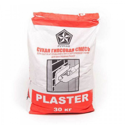 Штукатурка гипсовая РУСЕАН ПЛАСТЕР (PLASTER) 30кг купить по цене 260 руб.