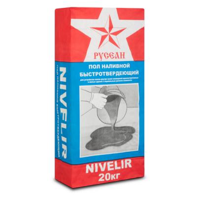Наливной пол Нивелир тонкослойный Русеан 3-80мм 20кг купить по цене 200 руб.