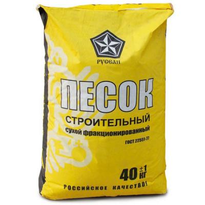 Песок строительный Русеан 40кг купить по цене 130 руб.