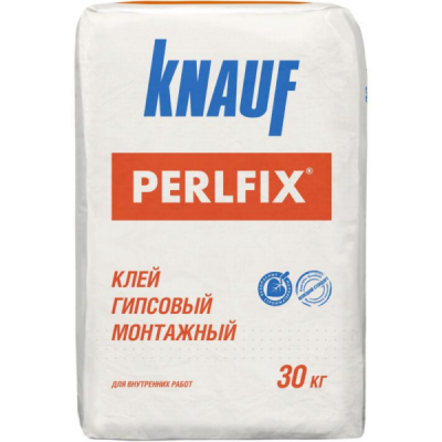Клей гипсовый монтажный Кнауф Перлфикс 30кг купить по цене 345 руб.