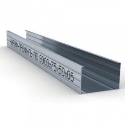 Профиль стоечный ПС 75х50х0,6мм L=3м Кнауф купить по цене 520 руб.