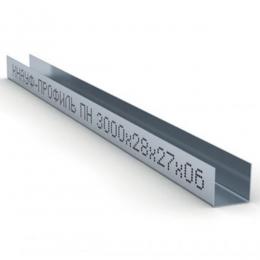Профиль направляющий ПН 28х27х0,6мм L=3м Кнауф
