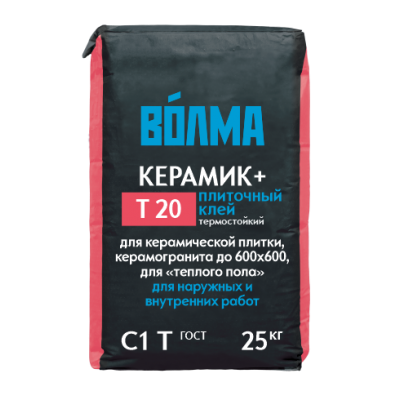 Плиточный клей Волма Керамик+ 25кг купить по цене 245 руб.