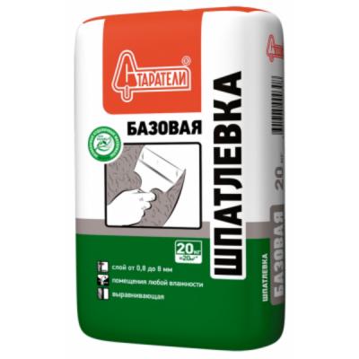 Шпаклевка цементная белая Базовая Старатели 20кг купить по цене 255 руб.