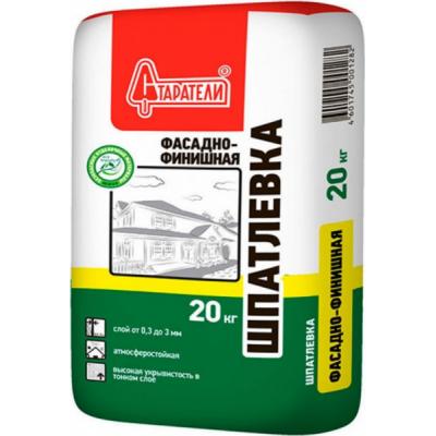 Шпаклевка цементная белая СТАРАТЕЛИ ФАСАДНО-ФИНИШНАЯ 20кг купить по цене 340 руб.