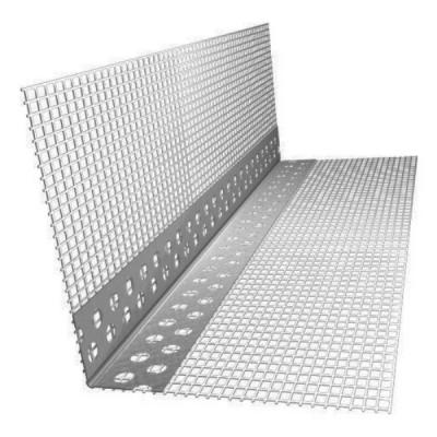 Профиль углозащитный ПВХ 25х25мм с сеткой 80х120мм L=2,5м купить по цене 65 руб.