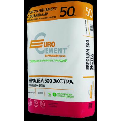 Портландцемент Евроцем 500 Экстра 50кг купить по цене 360 руб.
