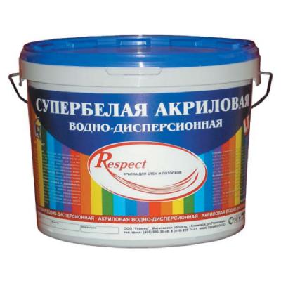 Краска супербелая акриловая Germes Respect 14кг купить по цене 475 руб.