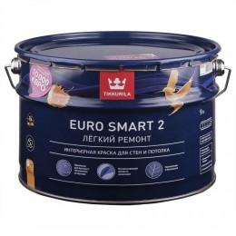 Краска моющаяся Tikkurila Euro Smart 2 белый (база А) 9л