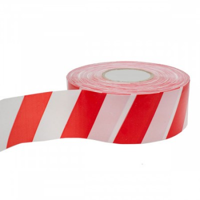 Лента сигнальная бело-красная 50мм*130м купить по цене 120 руб.