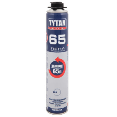 Пена монтажная Tytan Professional 65 профессиональная 750мл купить по цене 451 руб.