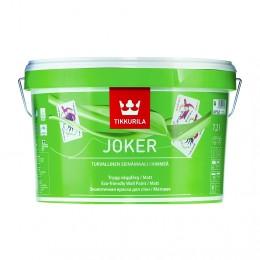 Краска интерьерная моющаяся Tikkurila Joker белый (база А) 9л