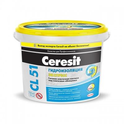 Гидроизоляционная мастика Церезит CL 51 15кг купить по цене 0 руб.