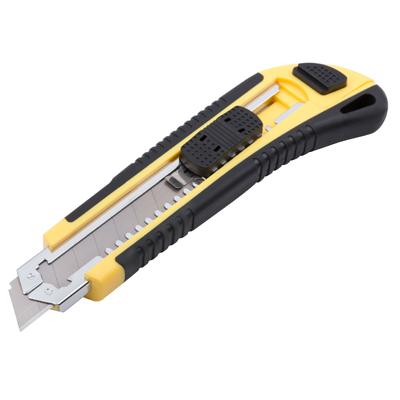 Нож 18мм автоматический фиксатор купить по цене 60 руб.