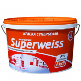 Краска Акриловая Супербелая Superweiss 14кг