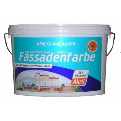 Краска фасадная Fassadenfarbe бесцветный (база С) 40кг купить по цене 2 390 руб.