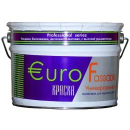 Краска фасадная EuroFassade белый (база А) 10л