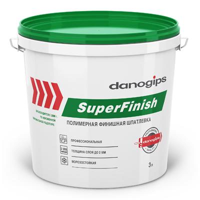 Шпаклевка готовая DANOGIPS ШИТРОК (SUPERFINISH) 5кг купить по цене 500 руб.