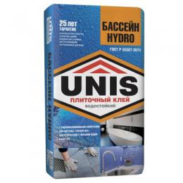 Плиточный клей Юнис Бассейн Hydro 25кг