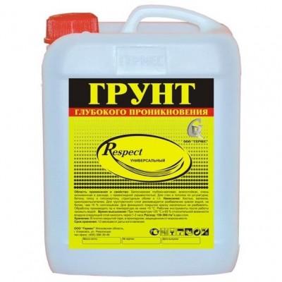 Грунтовка Respect Germes глубокого проникновения 10л купить по цене 180 руб.