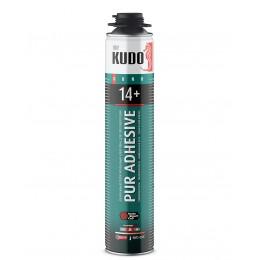 Клей-пена Kudo Pur Adhesive Proff 14+ для теплоизоляции 1000мл
