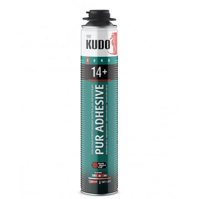 Клей-пена Kudo Pur Adhesive Proff 14+ для теплоизоляции 1000мл купить по цене 360 руб.