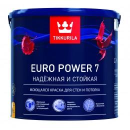 Краска моющаяся Tikkurila Euro Power 7 бесцветный (база С) 2,7л
