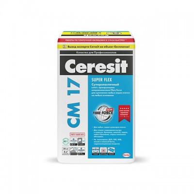Клей для плитки Церезит СМ 17 Super Flex 25кг купить по цене 1 330 руб.