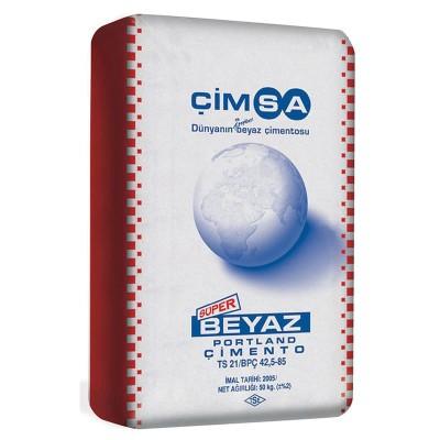 Цемент белый М500 Cimsa 50кг купить по цене 1 100 руб.